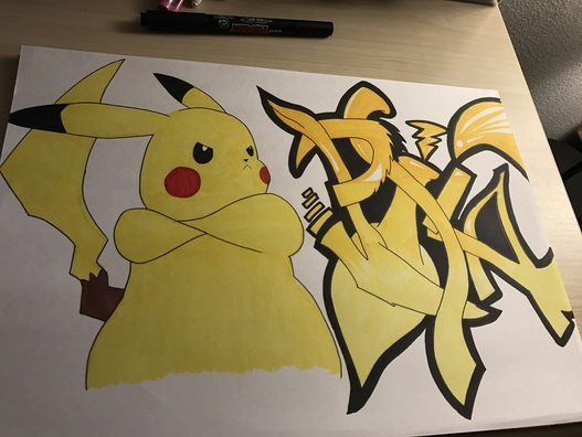 Pikachu graffiti